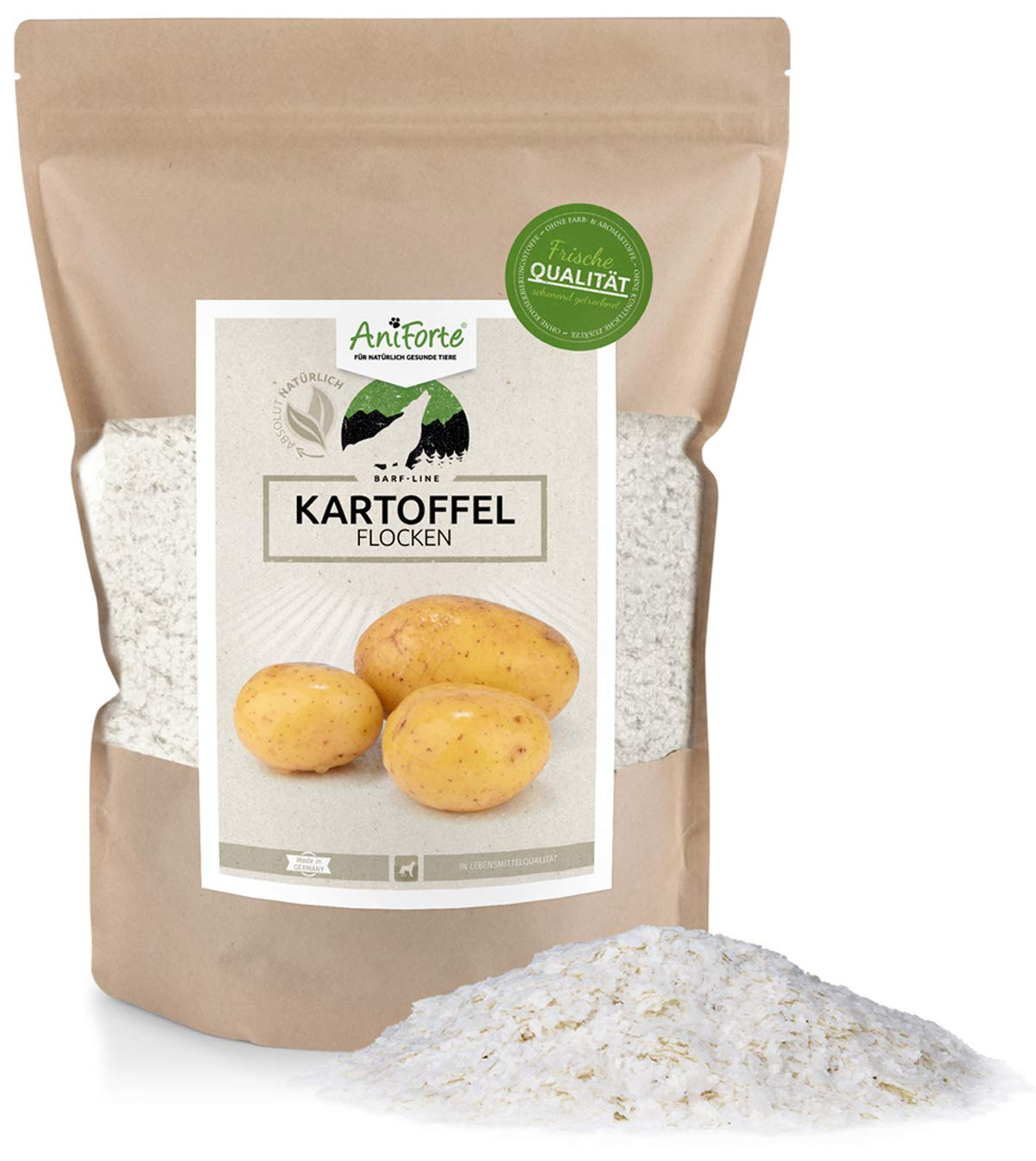 AniForte Poudre de b.a.r.f. Line Flocons de Pomme–Produit Naturel pour Chiens et Chats Görges Naturprodukte GmbH