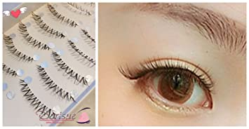 732b571a498 Dorisue False Eyelashes (10 Pairs Set) Super Natural Woman Short False  Eyelash women Lady
