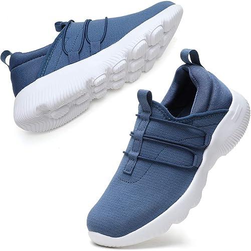 STQ Damen Sneaker Walkingschuhe Atmungsaktiv Laufschuhe