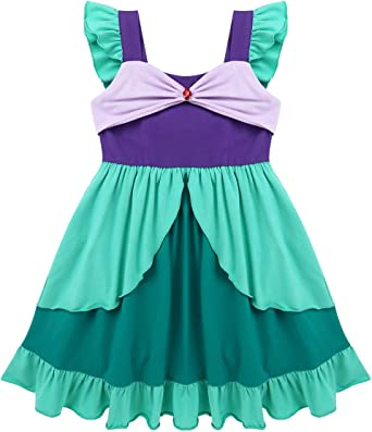 ranrann Disfraz de Sirenita Fiesta para Niña Vestido Tutú de ...