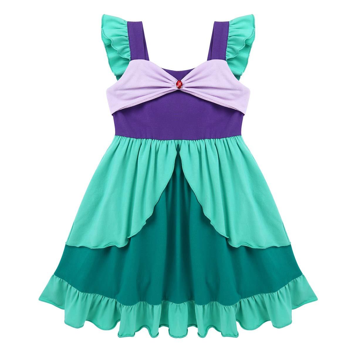 Agoky Disfraz de Princesa Sirena para Niñas Vestido Tutú de ...