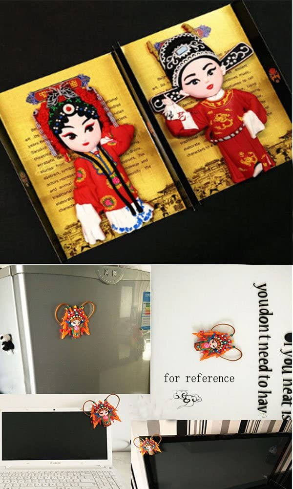 Creative chino estilo ópera de Pekín Lovely imán para nevera, esposo y novia: Amazon.es: Hogar