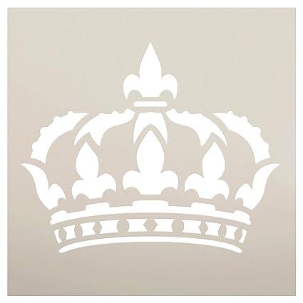amazon com queens crown art stencil stcl1126 by studior12