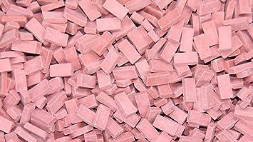 4000 pcs Miniature Light Red Bricks by Juweela 1:48/1:50