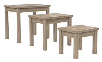 Desire Sonoma Oak Nest Of Tables Set of 3: Amazon.co.uk: Kitchen & Home