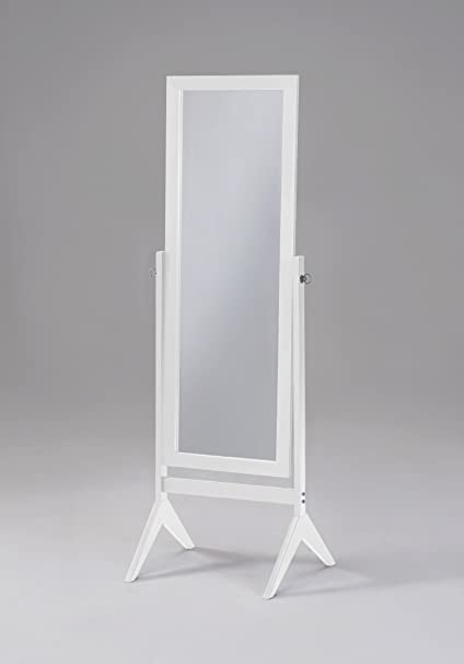 Bon Amazon.com: White Finish Wooden Cheval Bedroom Free Standing Floor Mirror  (Cheval White) By EHomeProducts: Home U0026 Kitchen