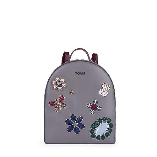 Tous Bolso Mochila S. Teatime Jewel Gris-Vino 895900116: Amazon.es: Zapatos y complementos