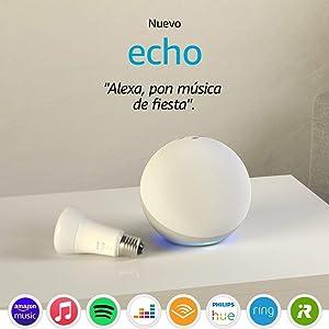 Echo (4.ª generación), Blanco + Philips Hue White BombillaLED E27