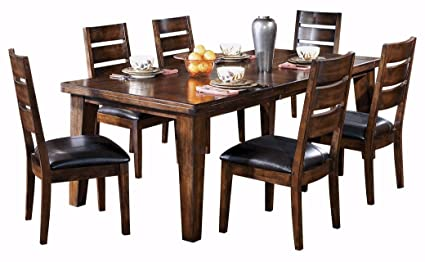 d88579762e Ashley Furniture Signature Design - Larchmont Dining Room Table - Old World  Style - Burnished Dark