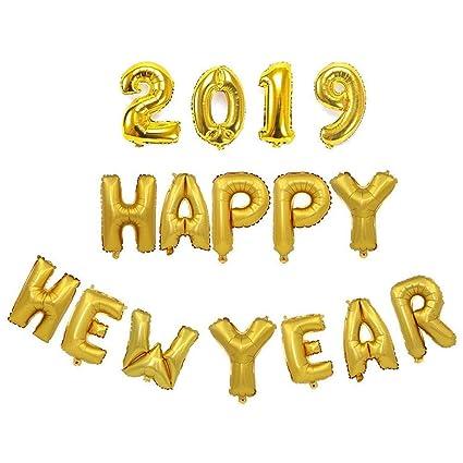 Amazoncom Happy New Year 2019 Balloon Set Party Diy Decoration