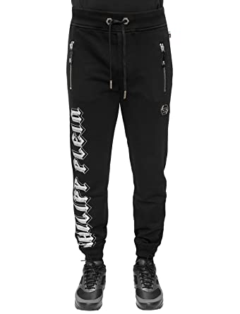 7a81589b436 Philipp Plein - Triple - Jogging Trousers with Rhinestones Details and  Skull Print (S)