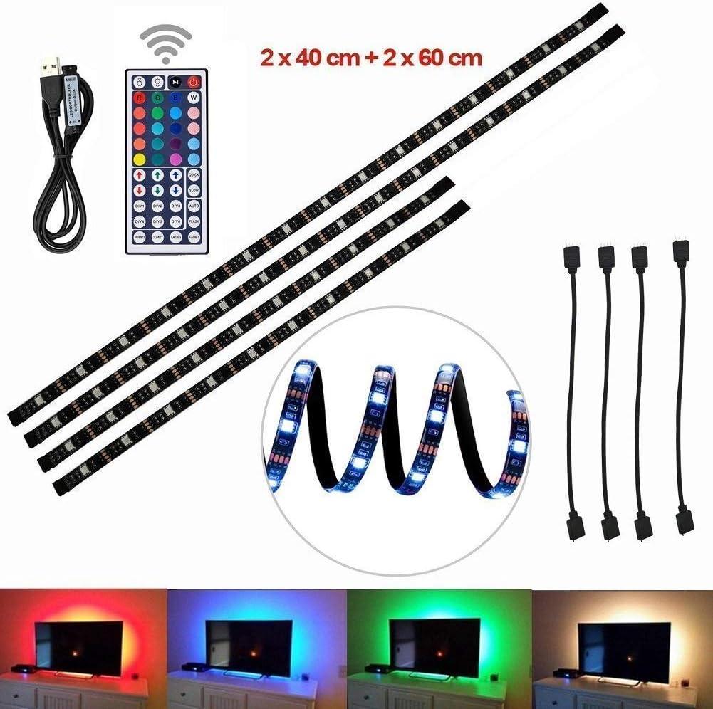 Tiras LED de Luz TV SMD 5050 RGB 20 Modo de Color IP65 Impermeable ...