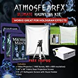 Amosfearfx Ghostly Apparitions, Phantasms And Macabre Manor Video, Ultimate Projector Bundle.Includes Projector, 3 SD Cards, Translucent Window Screen And Hologram Screen Stand Kit.