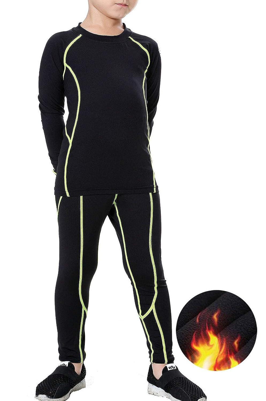 LANBAOSI Kids Thermal Underwear Set Athletic Shirt Pants for Boys Girls 2PCS SL360HOU-New