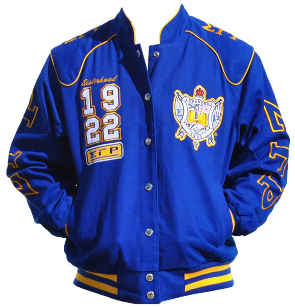Big Boy Headgear Sigma Gamma Rho Sorority Womens Twill Jacket Blue (4XL) by Big Boy Headgear