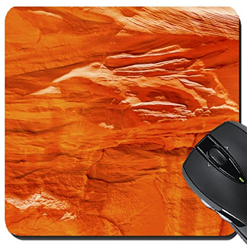 MSD Suqare Mousepad 8x8 Inch Mouse Pads/Mat design: 30206921 Orange Yellow Sandstone Rock Canyon Abstract Sand Dune Arch Arches National Park Moab Utah USA Southwest (Dune Sand Arch)