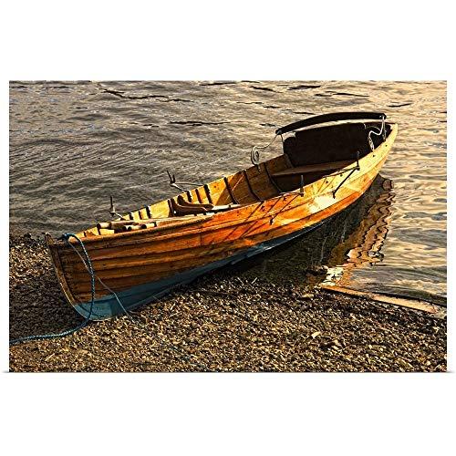 GREATBIGCANVAS Poster Print Entitled Boat On Shore, Keswick, Cumbria, England by John Short 18