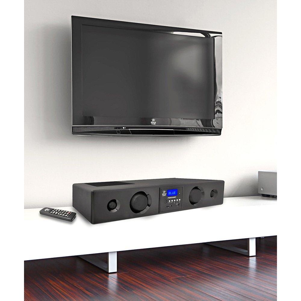 Fm Radio And  Wireless Remote (black) (psbv200bt ): Home Audio & Theater