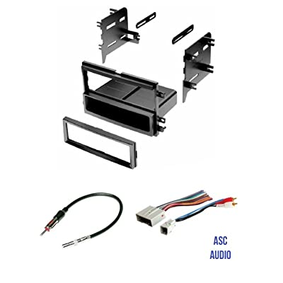 ASC Audio Car Stereo Radio Install Dash Kit, Wire Harness, and Antenna Adapter to Install a Single Din Radio for some Ford Lincoln Mercury Vehicles: Car Electronics