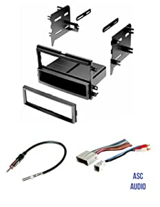 ASC Audio Car Stereo Radio Install Dash Kit, Wire Harness, and Antenna Adapter to Install a Single Din Radio for some Ford Lincoln Mercury Vehicles