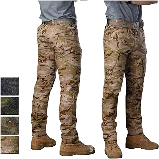 YILIFA Traje táctico Militar de Camuflaje para Hombre,Pantalones ...