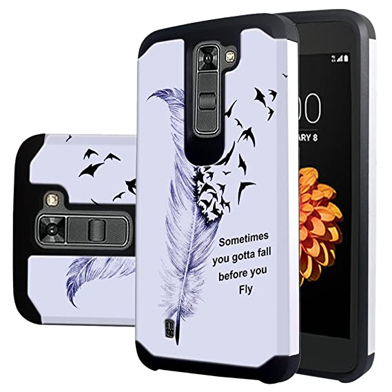 huge discount 3a8bd 10f04 LG Tribute 5 Case, LG Escape 3 Case, LG K7 Case,Harryshell(TM) Shock  Absorption Drop Protection Hybrid Dual Layer Armor Defender Protective Case  Cover ...