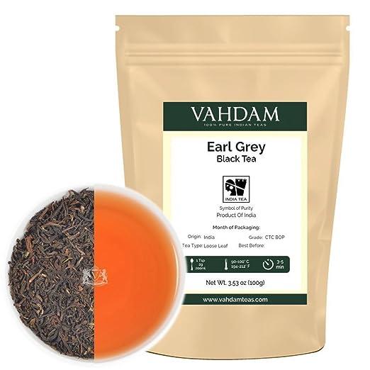 2 opinioni per VAHDAM Tè Earl Grey (50 tazze), tè nero di altissima qualità con intensi