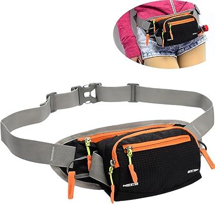 New Running Belt Bum Waist Pouch Fanny Pack Hiking Sport Water Bottle Zipper Bag