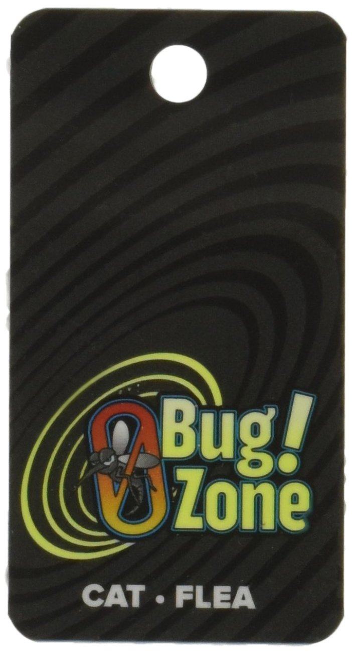 Double, 2 Cats 0Bug Zone Flea and Tick Barrier Tag for Cats, Double Tag for 2 Cats