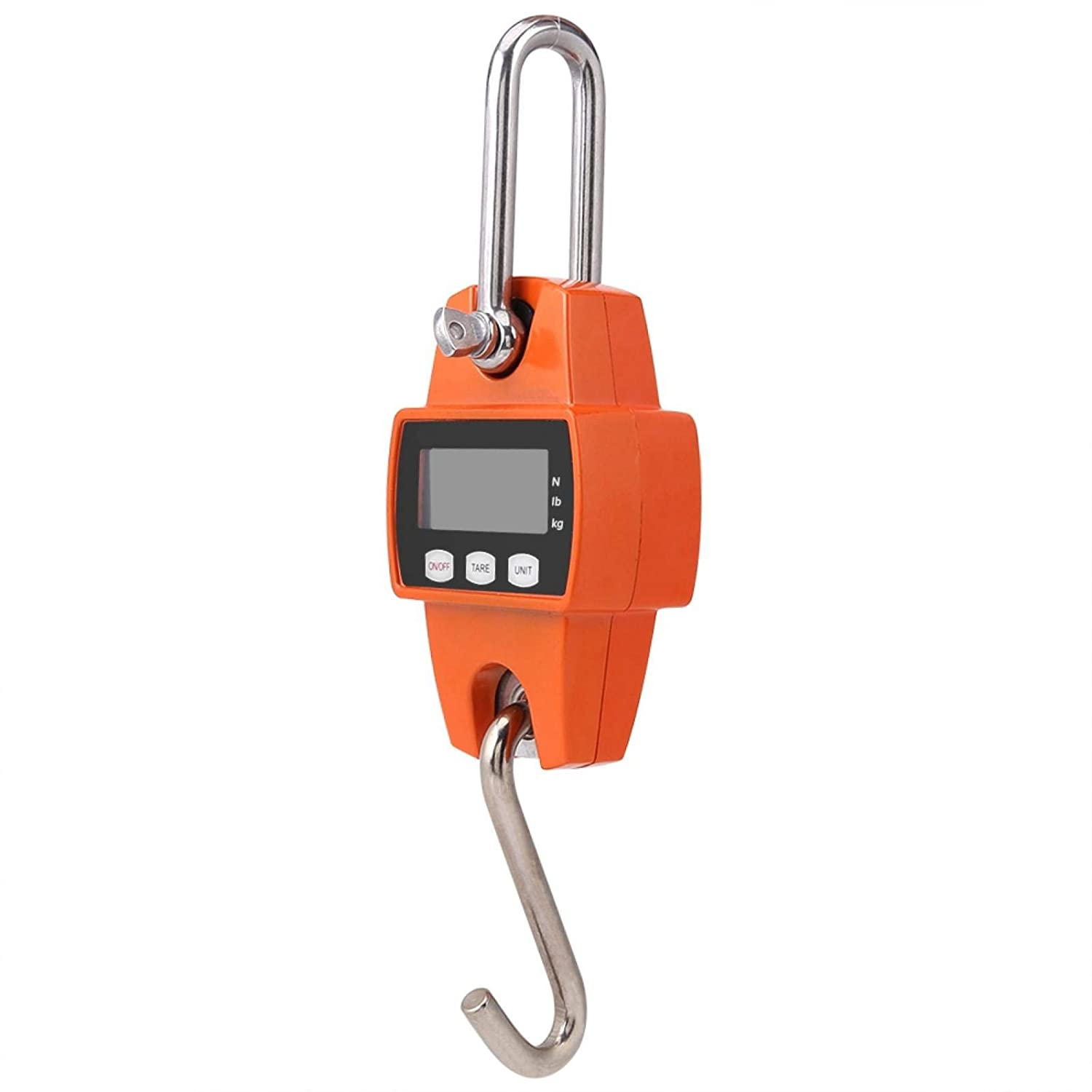 Hanging Scale Portable Hook Scale Digital Weight Scale Electronic 3 Unit LCD Display Weight Scale Mini 0.05 Division 300kg Capacity for House Use