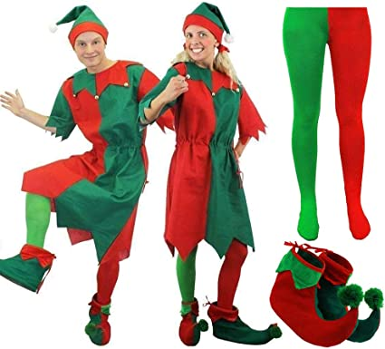Adulto Costume Elfo Cappello Scarpe Costume Natale Santas Helper NATALE ACCESSORI