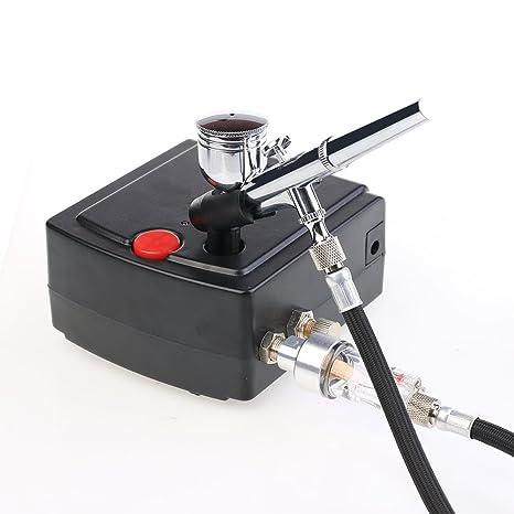 Portátil Mini Master aerógrafo Kit de compresor de aire de maquillaje multiusos Precision dual-action
