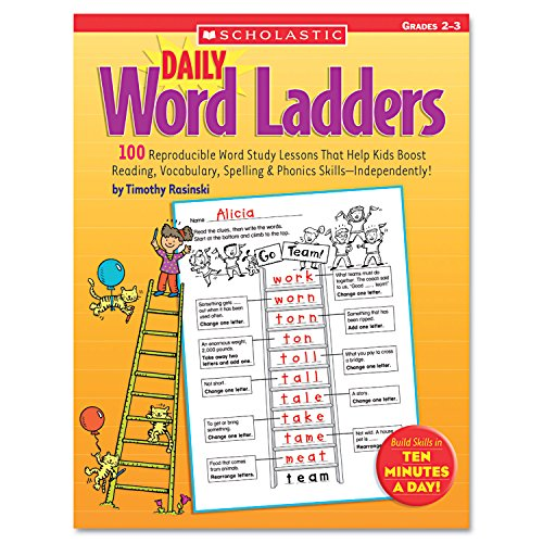 (SHS0439513839 - Scholastic Grades 2-3 Daily Word Ladders Education Printed Book - English)