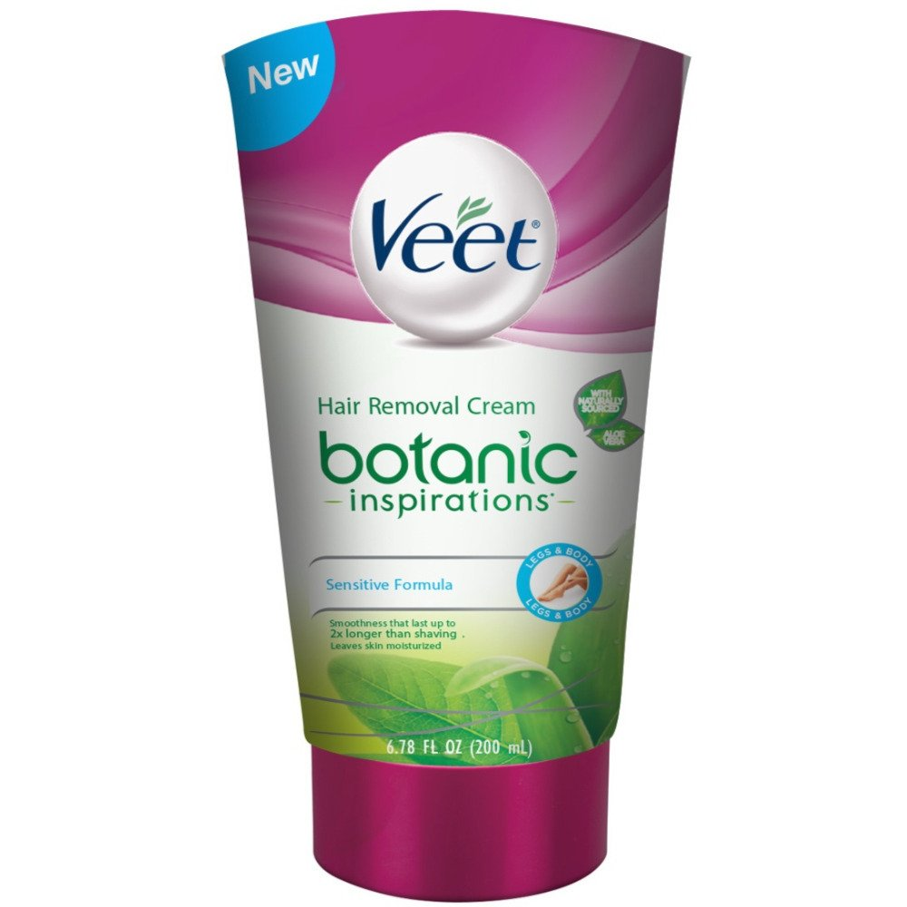 Veet Botanic Inspirations Gel Cream, 6.78 oz., for Legs & Body (Pack of 2)