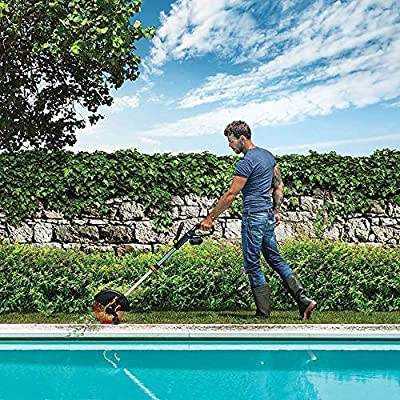 WORX Wg180 40 Volt GT3.0 Trimmer with Battery and Charger Included Cordless Grass Trimer, Orange and Black