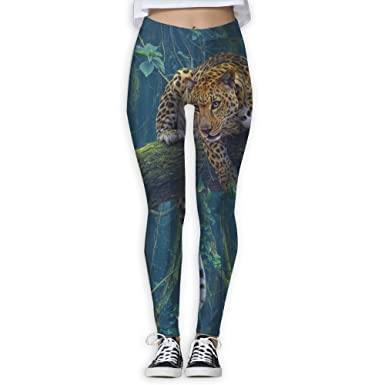 37a92114c92 Futong Huaxia Jaguar Leopard Women s Stretchy Leggings Skinny Pants For  Yoga Running Pilates Gym at Amazon Women s Clothing store