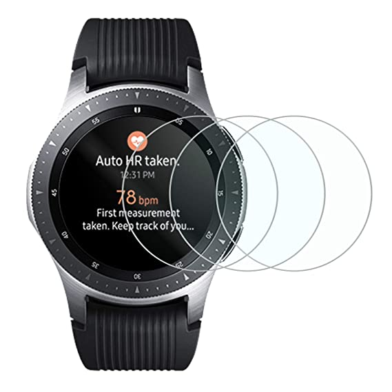 Tempered Glass Screen Protector for New Samsung Galaxy Smart Watch 2018,Anti-Scratch Bubble Free Accessories Protector for Samsung Galaxy 46mm - 3 ...