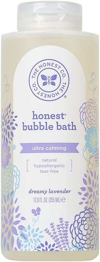 Honest Calming Lavender Hypoallergenic Bubble Bath with Naturally Derived Botanicals, Dreamy Lavender