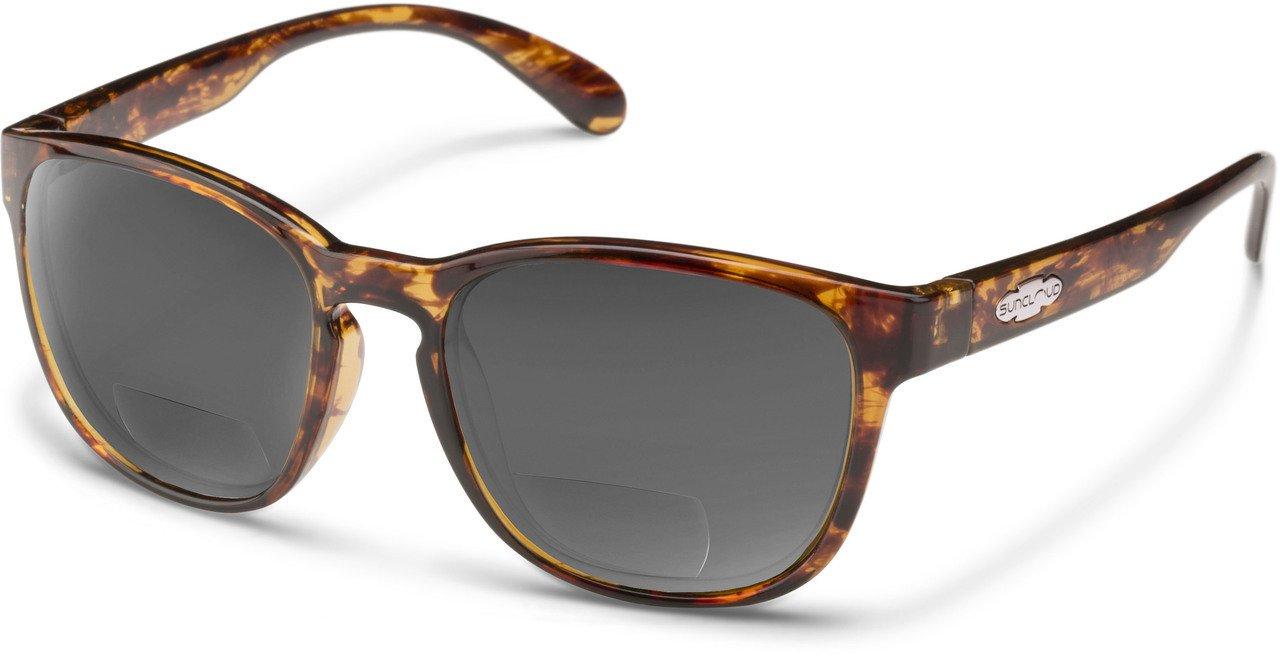 Suncloud Loveseat Polarized Bi-Focal Reading Sunglasses in Tortoise/Grey Lens +2.50 by Suncloud