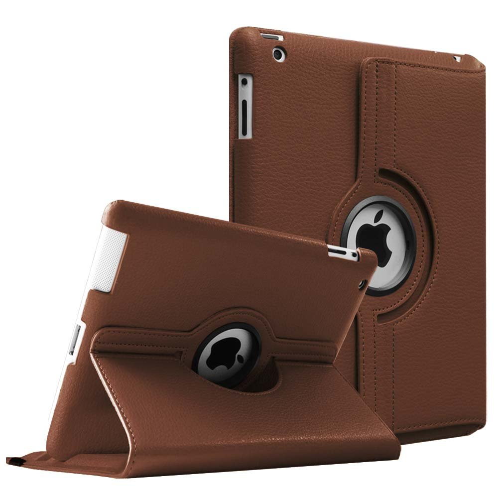 Fintie Apple iPad 2/3/4 Case - 360 Degree Rotating Stand Smart Case Cover for iPad with Retina Display (iPad 4th Generation), The New iPad 3 & iPad 2 (Automatic Wake/Sleep Feature), Denim Grey