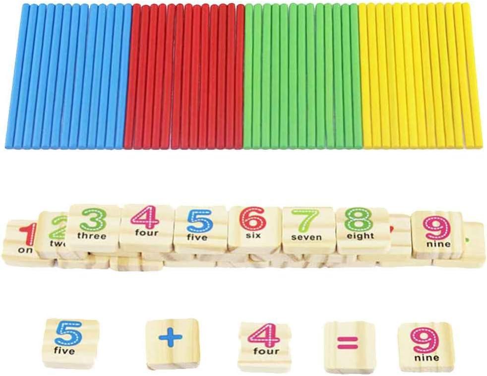 Caja de hierro Palo de madera Matemáticas Rompecabezas Educación Número Juguetes Calcular Aprendizaje del juego Cuenta de juguetes para bebés Bobury