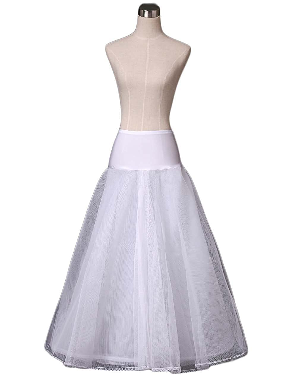 AliceHouse Womens Hoopless Slip A-Line Wedding Petticoat Underskirt Formal 9012