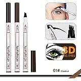 CINIDY Eyebrow Pen 2018 NEW 3D Eyebrow Long Lasting Tint Dye Cream,Waterproof,Smudge-proof (# 01)
