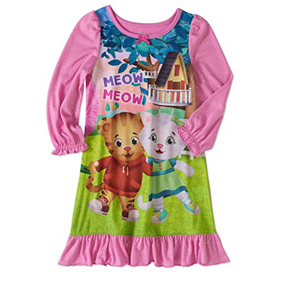 Daniel Tiger Neighborhood Nightgown Toddler Girls Night Shirt