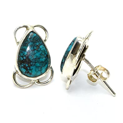 d1174dfdbd Buy Gomes Gems Turquoise Gemstone 92.5 Sterling Silver Earring For Women's Fashion  Jewellery Earrings Online at Low Prices in India | Amazon Jewellery Store  ...