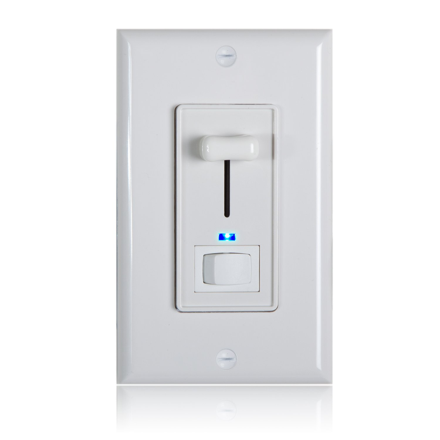 Maxxima 3-Way / Single Pole Dimmer Electrical Light Switch With Blue ...
