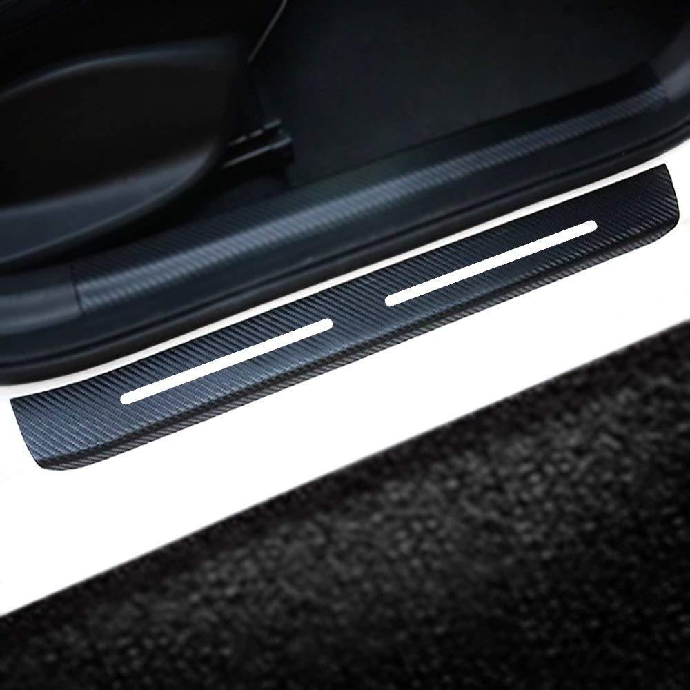 for Chevrolet Chevy Sonic 2012 2013 2014 2015 2016 Car Door Sill Door Entry Scuff Plates 4D Carbon Fiber Vinyl Sticker Auto Accessories 4PCS