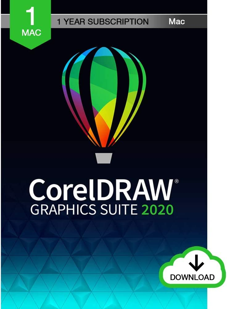 CorelDRAW Graphics Suite 2020 | Graphic Design, Photo, and Vector Illustration Software | 1 Year Subscription [Mac Download]