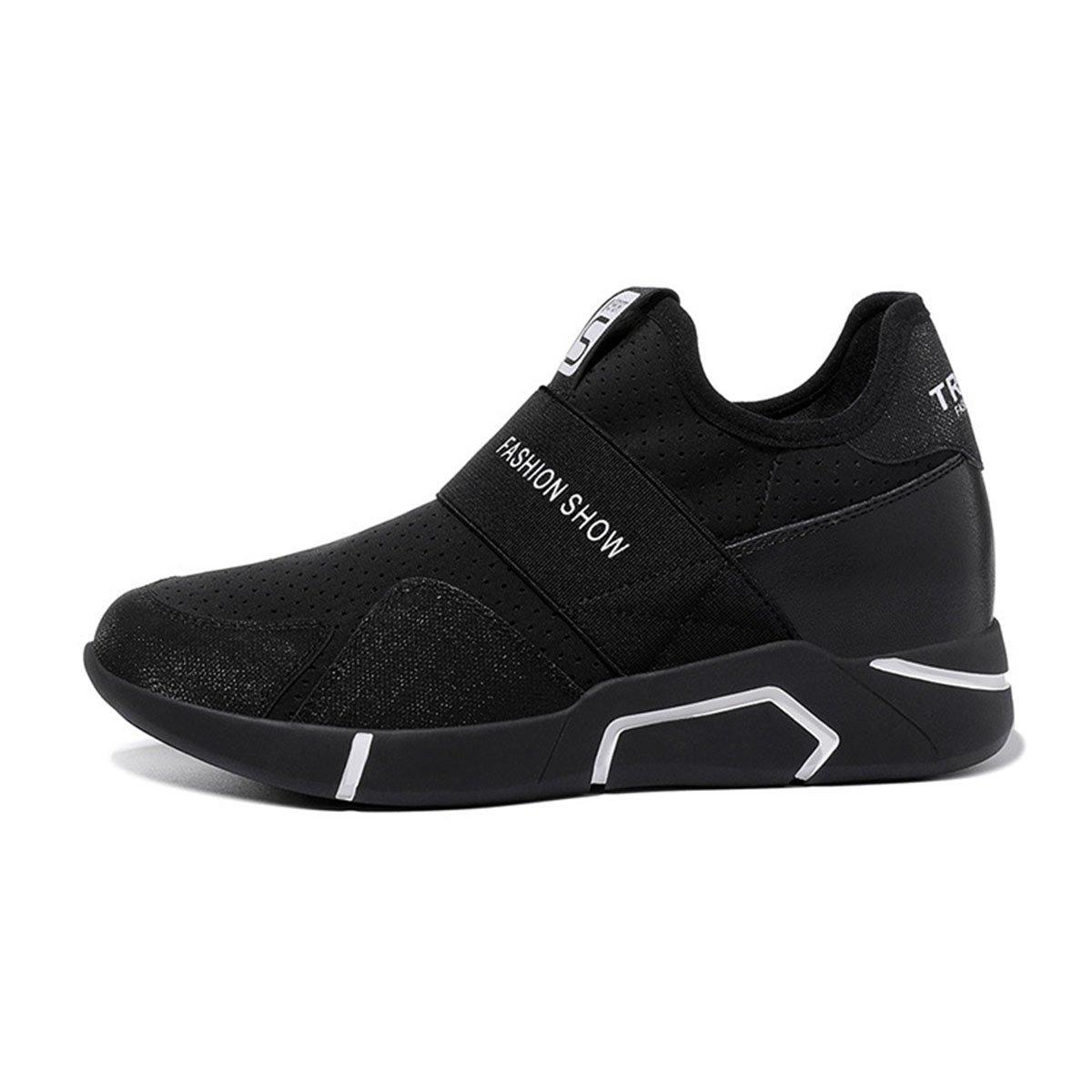 Zapatillas de Deporte para Mujeres Zapatillas de Deporte Ocasionales Primavera y Verano Otoño de 2018 Zapatos Deportivos de Primavera (Color : Negro, Tamaño : 38) 38|Negro