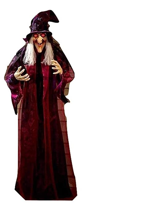 Amazon Com 71 Life Size Hanging Animated Talking Witch Halloween